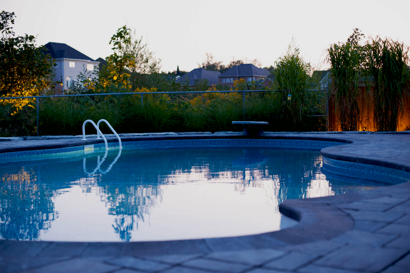 Night Lighting Pool Area Landscaping Barrie Dearborn Designs
