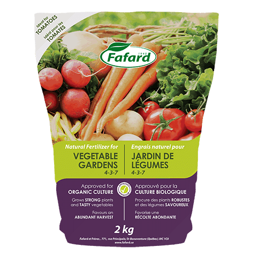 Fafard's Vegetable Garden 4-3-7 Fertilizer Available through Ego's Garden Centre Online